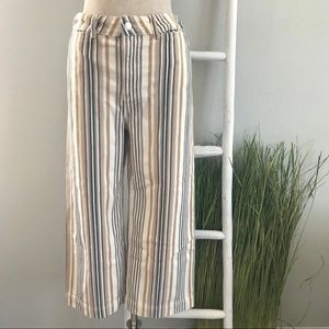 Free People | Striped Wide Leg Cropped Pants